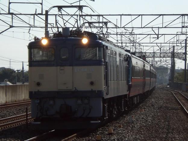 EF64-36+14系客車ゆとり