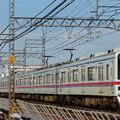写真: 京成本線 荒川橋梁通過 特急 京成上野行き