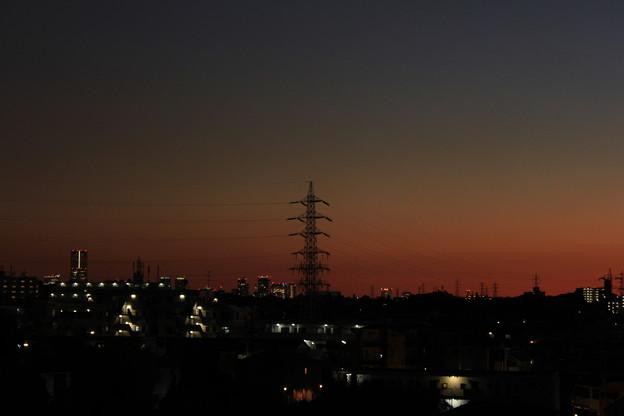 写真: 夕暮れのMM21