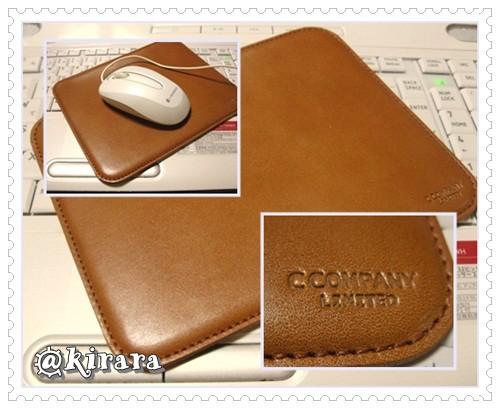 ◇7.20 本牛革マウススパッド(C COMPANYさん)