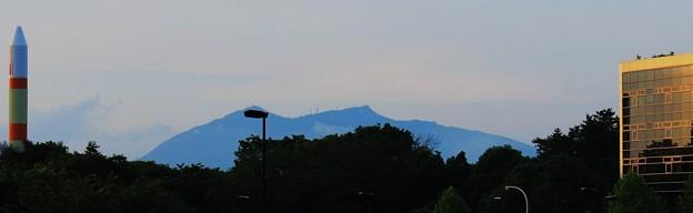 つくば市街から見る筑波山塊