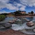 2012年6月26日 長尾川河畔 飛び石 360度パノラマ写真