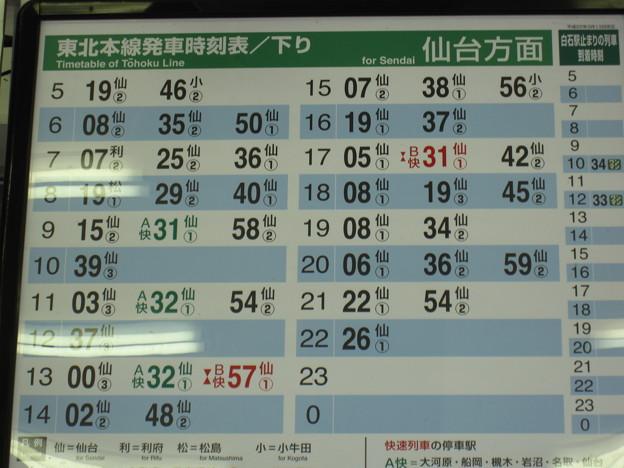 駅 時刻 表 仙台