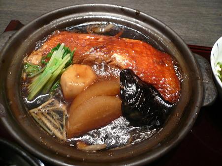 京橋・鮮菜魚 早瀬 「金目鯛煮付け定食」