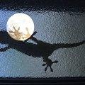写真: 月面にヤモリの足 (青)