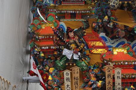 10 2014年 博多祇園山笠 福岡ドーム 飾り山笠 合戦大保原 (5)