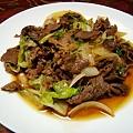 Photos: 牛肉とレタスの甘辛炒め