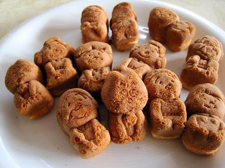 人形焼を並べてみた。