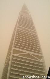 砂に煙るファイサリアタワー