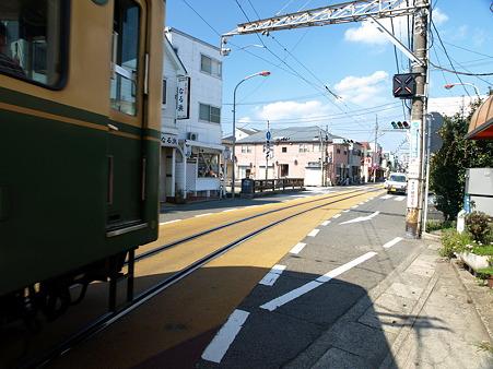 江ノ島→腰越の併用軌道区間35