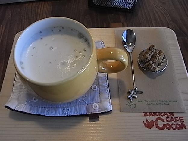Cocoa有機コーヒーの豆乳ラテ