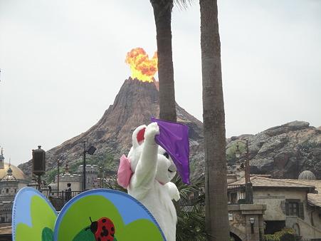 マリーと火山がドッカーン
