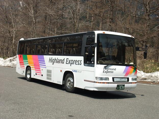 往路は松本から上高地まで直行便に乗車
