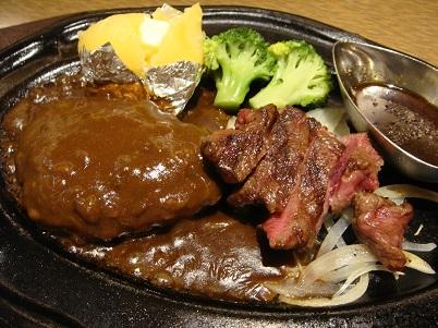 肉の万世 「カットステーキとハンバーグ」