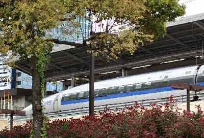 新幹線 500系 名古屋駅前-180416