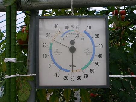 今日のハウス温度