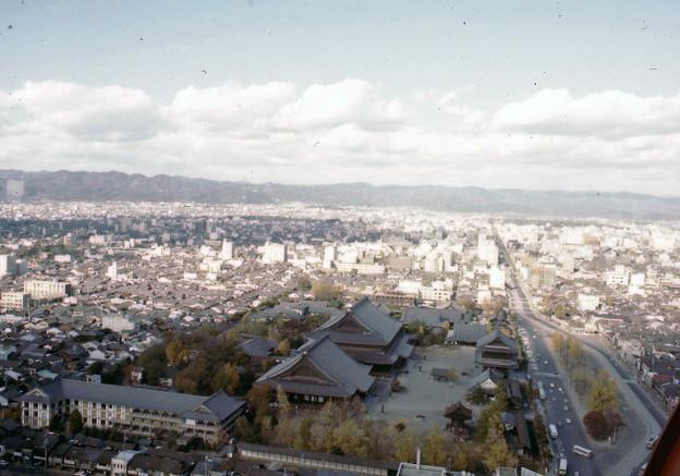 京都タワーからの眺望(40年前)-3