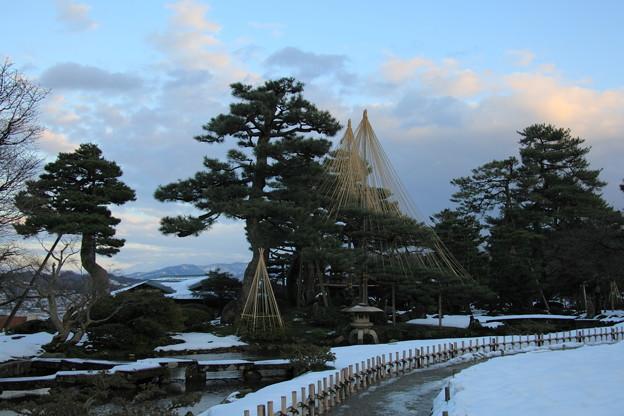 兼六園 七福神山と雁行橋