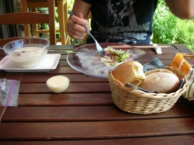 美味しいパンとスープ