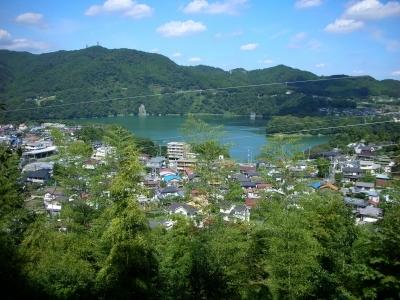 津久井湖見えた