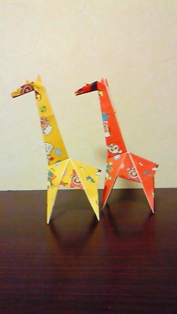 簡単 折り紙 折り紙 キリン : photozou.jp