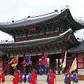 写真: 王宮守門将交代儀式1